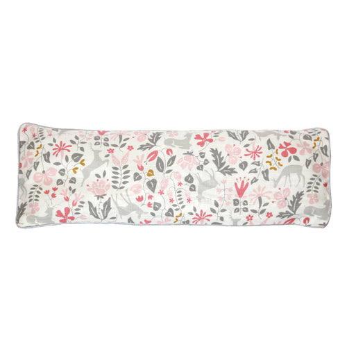 Deer And Flower Snuggy Beansprout Husk Pillow - Pink