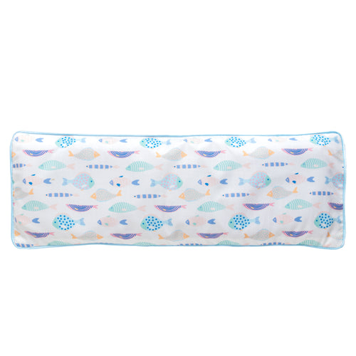 Gone Fishing Snuggy Beansprout Husk Pillow - Blue