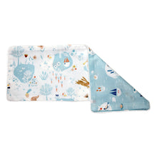 Mini Lakes Snuggy Beansprout Husk Pillow - Blue
