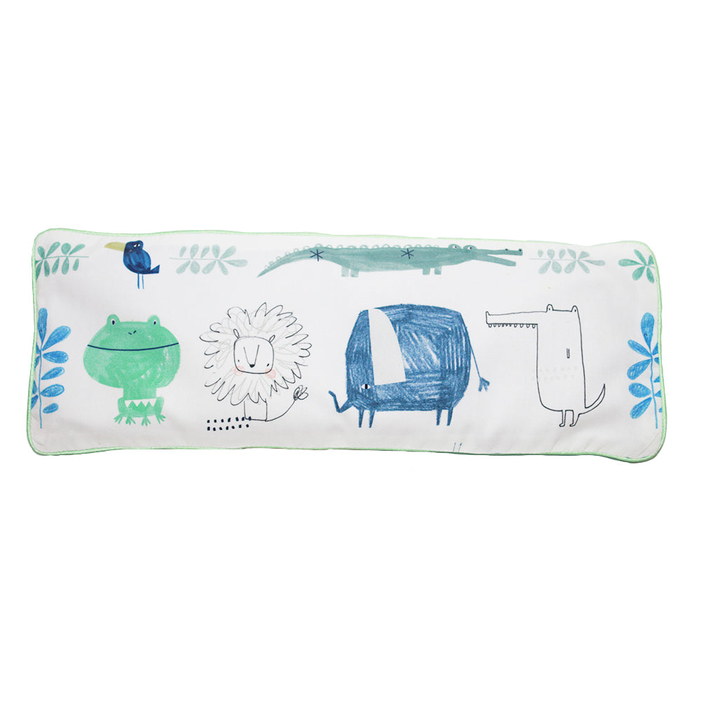 Safari Friends Snuggy Beansprout Husk Pillow (Organic Cotton)