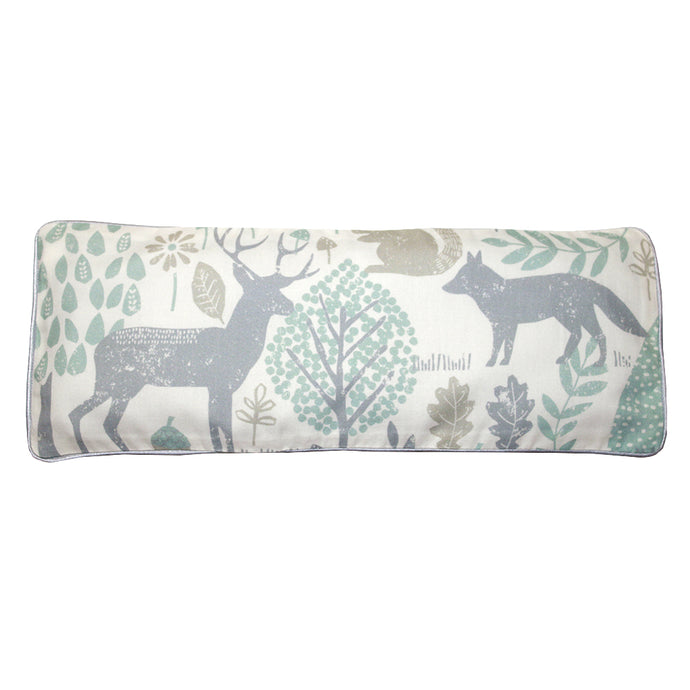 Woodland Animals Snuggy Beansprout Husk Pillow - Green (Organic Cotton)