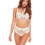 'Marry Me' White Semi-Sheer Bralette Set