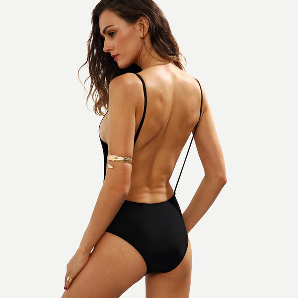 Backless Plunge Body Suit