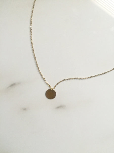 Gold Filled Initial Charm Necklace