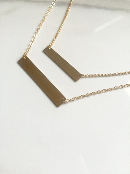 Gold Filled Bar (Large-Short)