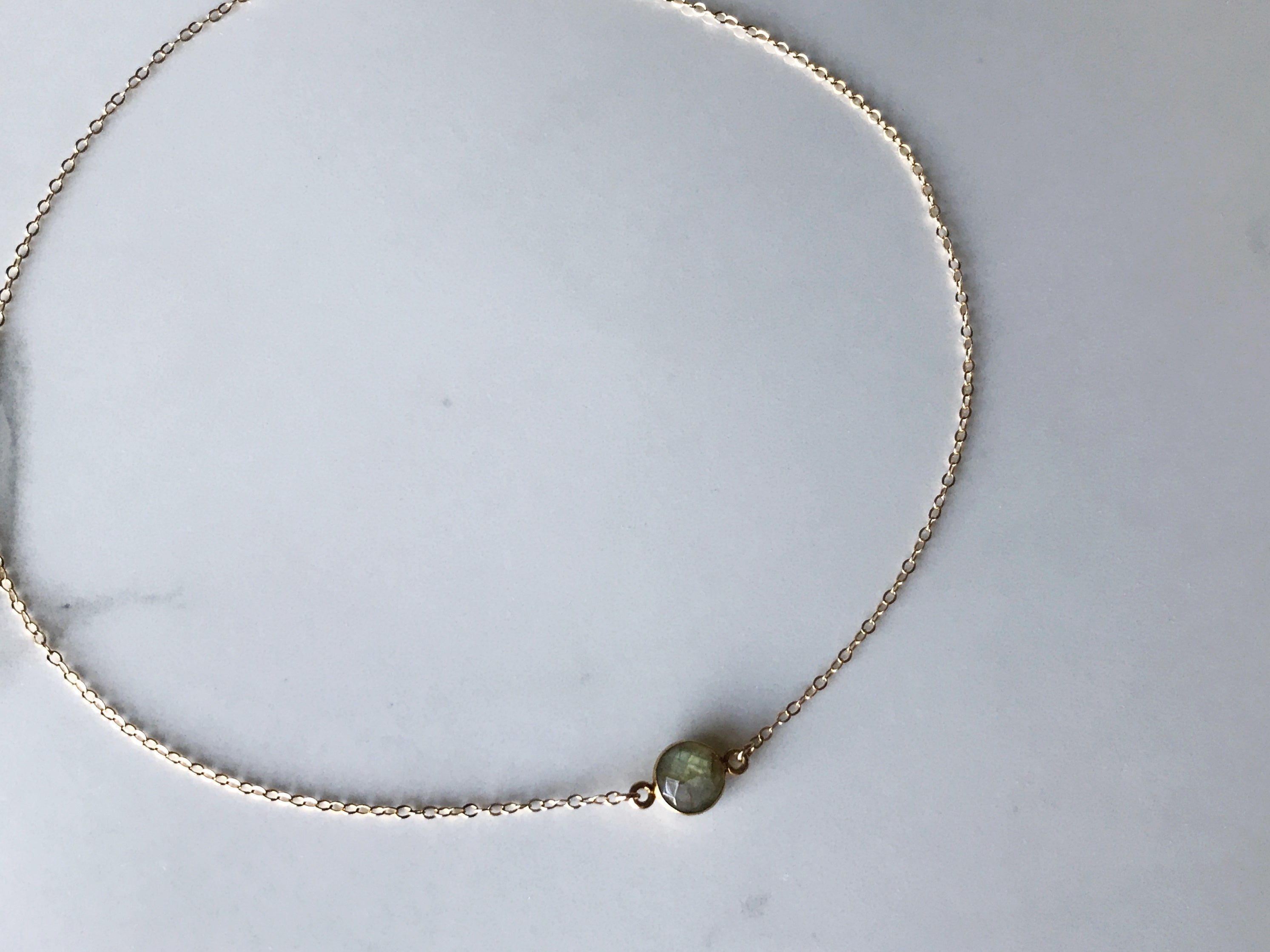 Large Dew Drop Stone Necklace