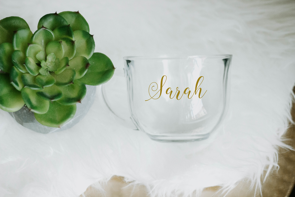 Customized Glass Mug