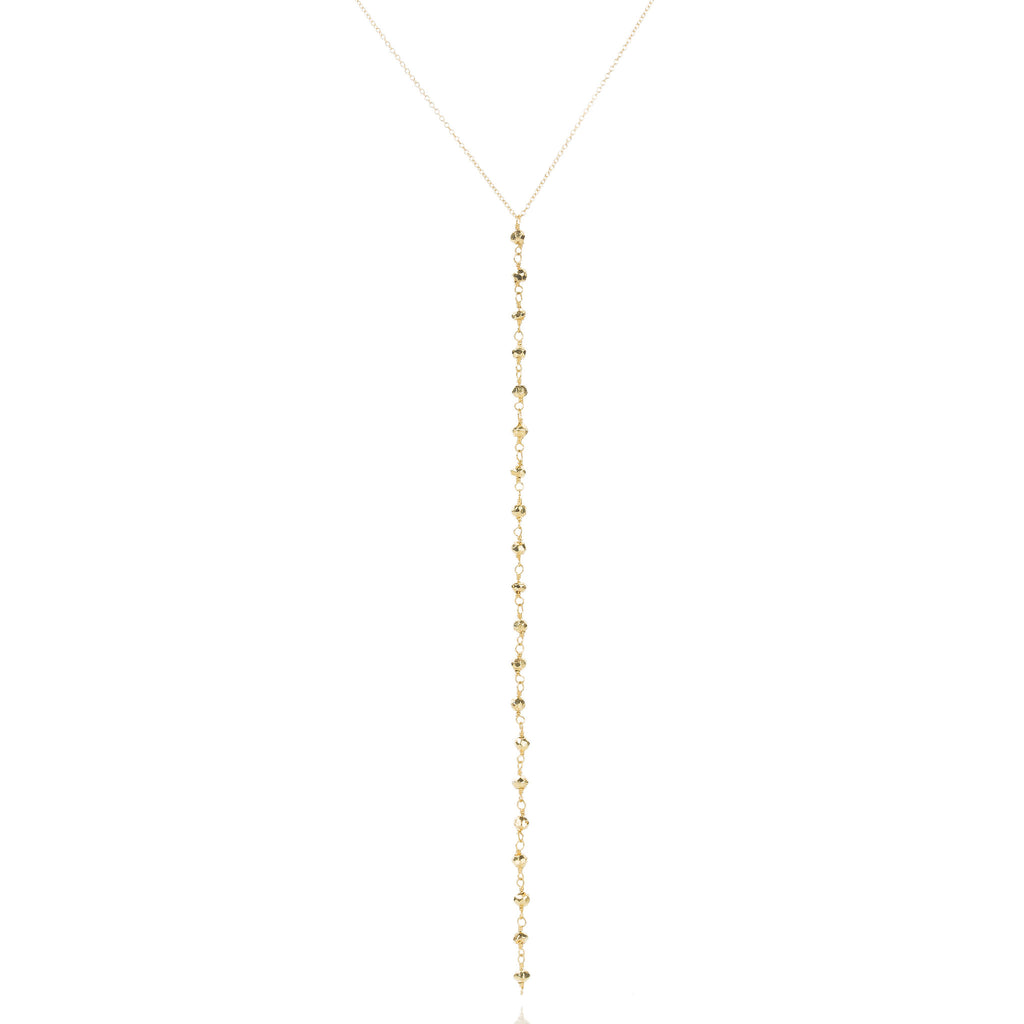 Avery Pyrite Lariat Necklace