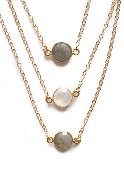 Dew Drop Stone Necklace