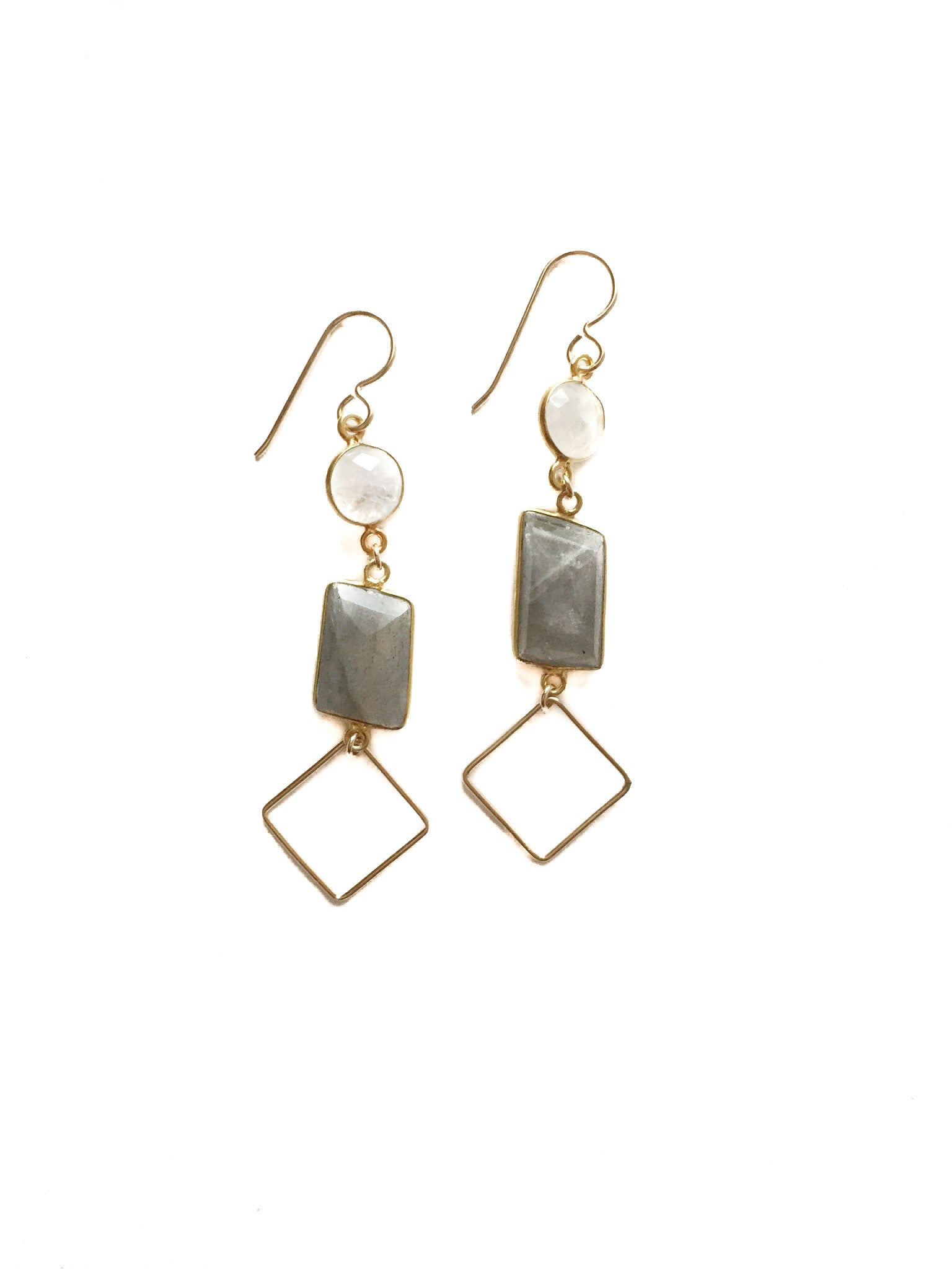 Labradorite Stoned Earrings