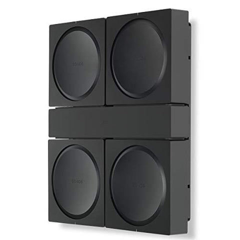 Flexson Wall Mount for 4 Sonos AMPs (Black)