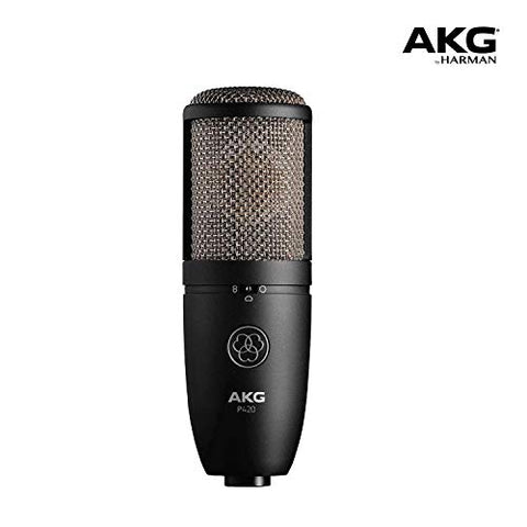 AKG Pro Audio P420 microphone, Sliver Blue, 9.80 x 5.50 x 9.00 inches (3101H00430)