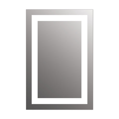 "Seura Allegro LED Lighted Bathroom Wall Mounted Dimmable Mirror 37"" x 42"" x 7"""