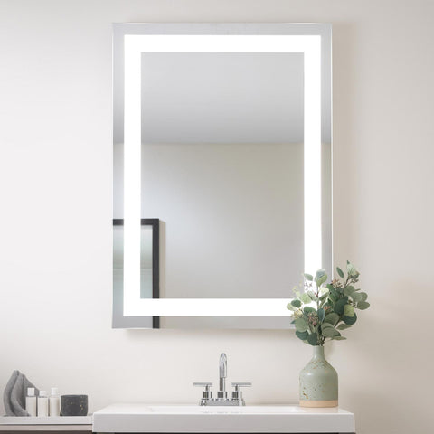 "Seura Allegro LED Lighted Bathroom Wall Mounted Dimmable Mirror 30"" x 49"" x 7"""