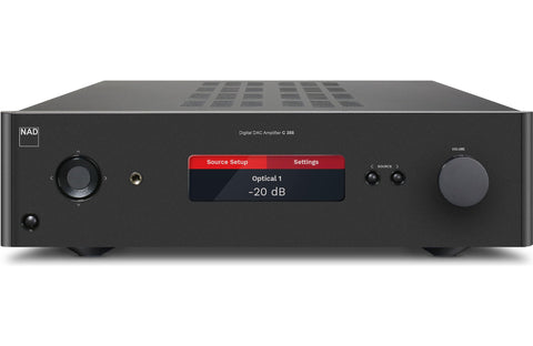 NAD C388 stereo integrated amp with built-in DAC and Bluetooth