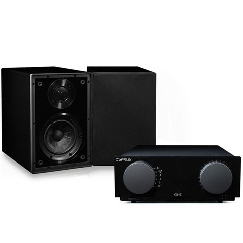Cyrus ONE Core Bundle - Cyrus ONE & ONE linear speakers packaged with dedicated Cyrus speaker cable