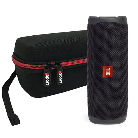 JBL FLIP 5 Portable Speaker IPX7 Waterproof On-The-Go Bundle with gSport Deluxe Hardshell Case