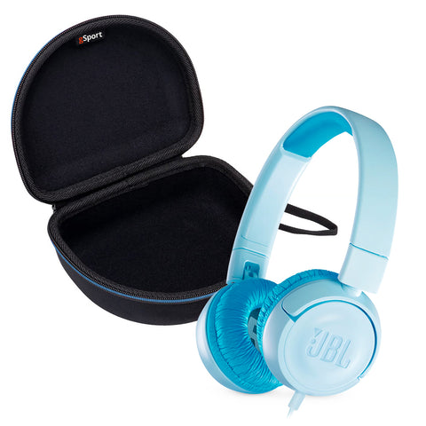 JBL JR300 Kids' On-Ear Headphones with gSport Deluxe Hardshell Case