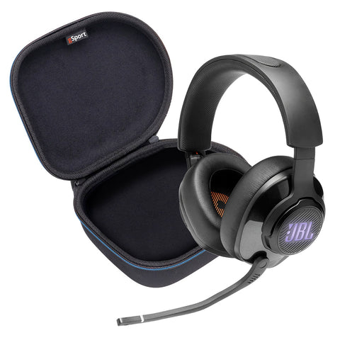 JBL Quantum 400 USB over-ear gaming headset and Deluxe gSport Hardshell Case
