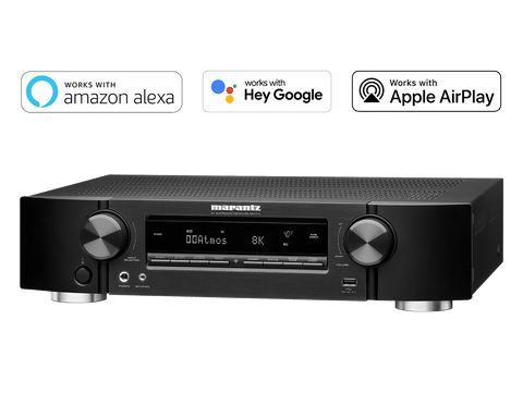 Marantz NR1711 Slim 7.2 Channel (50 Watt x 7) 8K Ultra HD AV Receiver with HEOS Built-in and Voice Control