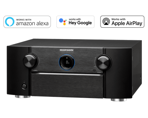Marantz SR7015 9.2 Channel (125 Watt x 9) 8K Ultra HD AV Receiver with 3D Audio, HEOS Built-in and Voice Control