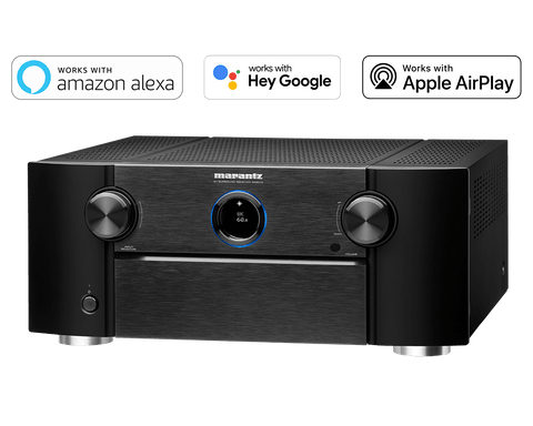 Marantz SR8015 11.2 Channel (140 Watt x 11) 8K Ultra HD AV Receiver with 3D Audio, HEOS Built-in and Voice Control