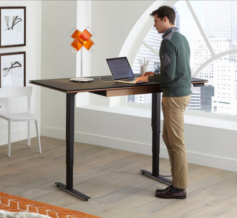 "BDI Sequel 20 6152 powered, adjustable standing or sitting desk 66"" x 30"" Desktop"