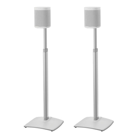 Sanus WSSA2 Adjustable Height Wireless Speaker Stands designed for SONOS ONE Play:1 and Play:3 (Pair)