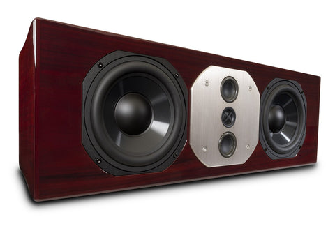 McIntosh LCR80 Red Walnut Facing Right Angle