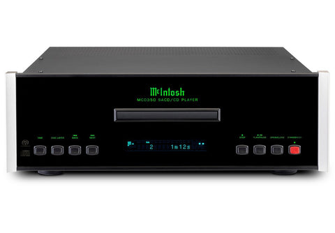 McIntosh MCD350 2-Channel SCAD / CD Player Front On Black Lit Up