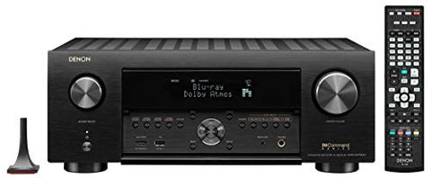 Denon AVR-X4700H 9.2 Channel (125 Watt X 9) 8K Ultra HD AV Receiver with 3D Audio, HEOS Built-in and Voice Control