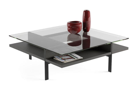 BDI TERRACE 1150 Square Coffee Table Charcoal Stained Ash