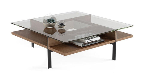BDI TERRACE 1150 Square Coffee Table Natural Walnut