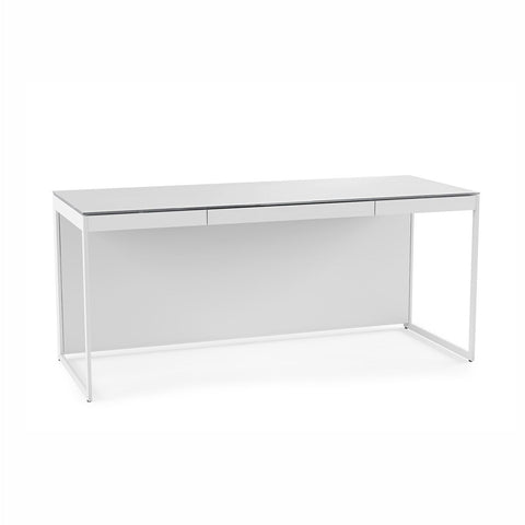 BDI CENTRO 6401 white Desk with keyboard tray