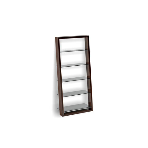 BDI Eileen 5156 leaning shelf chocolate stained walnut finish