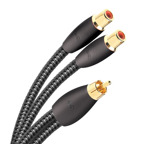 AudioQuest FLX-X RCA Splitter - Male to 2 Female - 6""