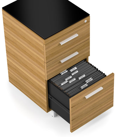 BDI Sequel 20 6114 three-drawer filing cabinet