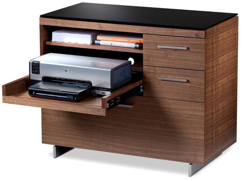 BDI Sequel 20 6117  Cabinet with lateral file drawer, sliding printer shelf and two storage drawers