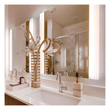 "Seura Veda 24"" x 42"" LED Lighted Bathroom Wall Mounted Dimmable Mirror"