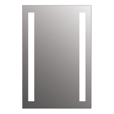 "Seura Lumin 24"" x 36"" LED Lighted Bathroom Wall Mounted Dimmable Mirror"