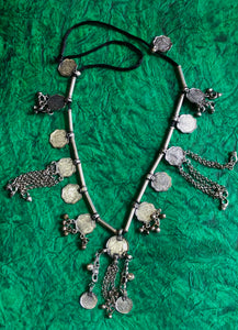 Coin Oxidised Necklace