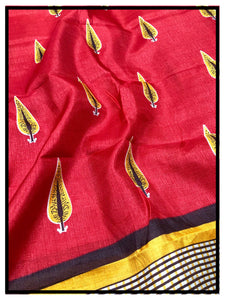 Printed Dupatta 3 (Red-Yellow)