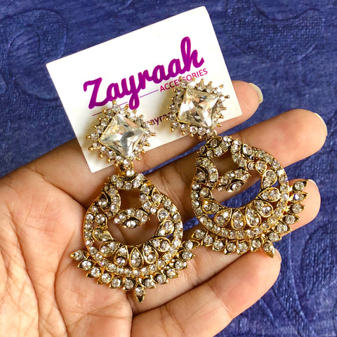Diamond Gold Jhumkis