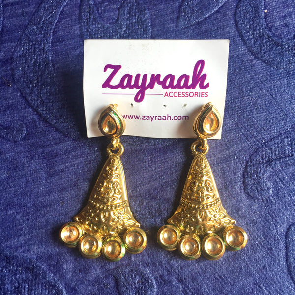 Kundan Drop Earrings 2