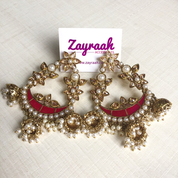 Dark Pink Chandbali
