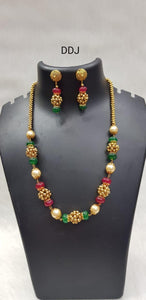 Red & Green Stone Neckpiece
