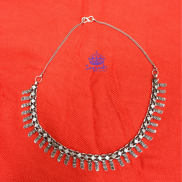 Oxidised Drop Neck-Piece 2