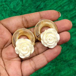 Spiral Big Rose Stud