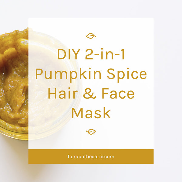 DIY Two-in-One Pumpkin Spice Hair & Face Mask