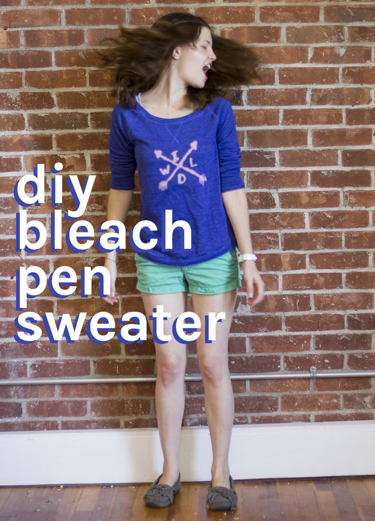 Celebrate Being Wild + Free with this DIY Bleach Pen Shirt